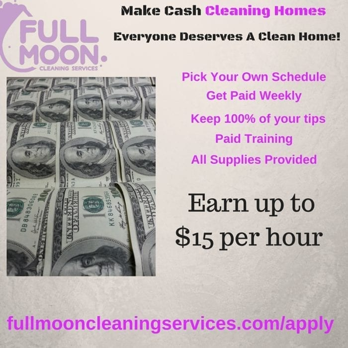 Make Cash Cleaning Homes
