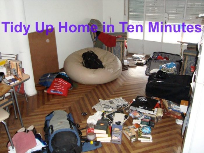 Tidy Up Your Home In Ten Minutes House Cleaning
