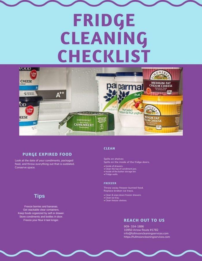 fridge cleaning checklist